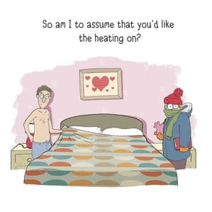 MTC6 - Heating On Funny Wedding Card